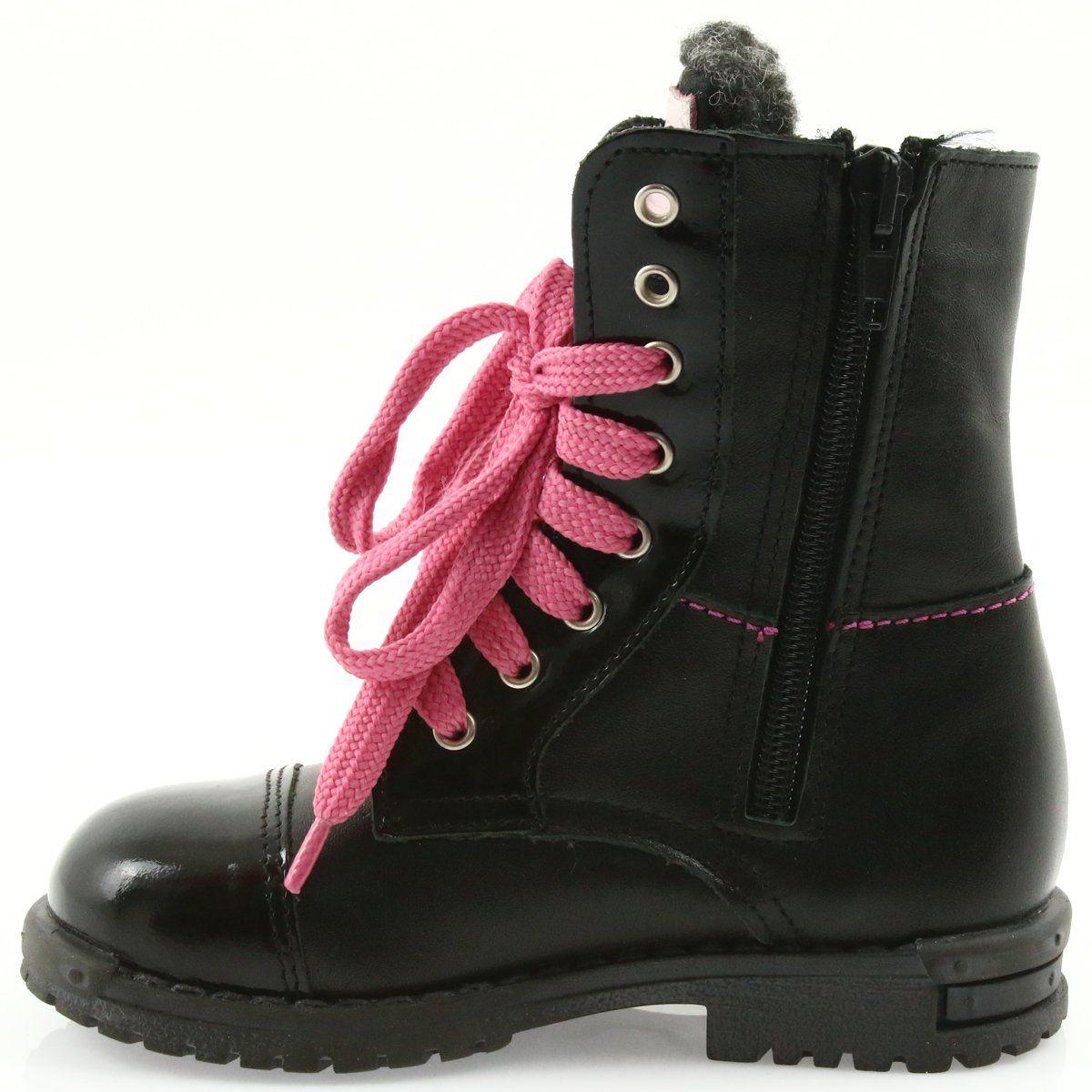 Kozaki Dla Dzieci Renbut Ren But Trzewiki Dziewczece Zarro 38 01 Czarne Wedge Sneaker Shoes Sneakers
