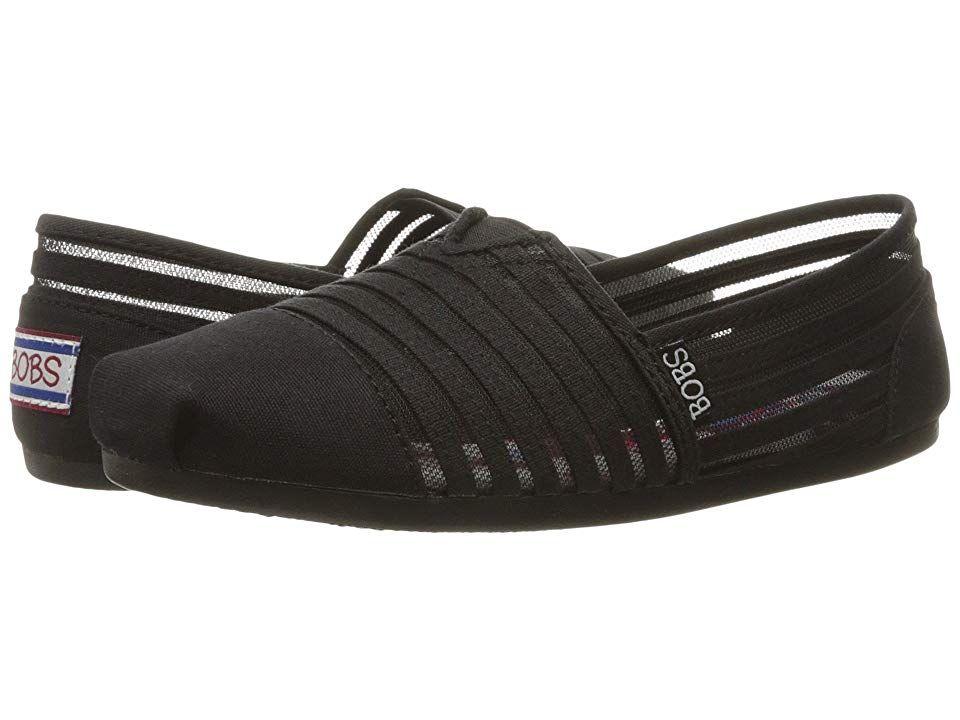 aa85eb6d8db BOBS from SKECHERS Bobs Plush Women s Shoes Black Black 1