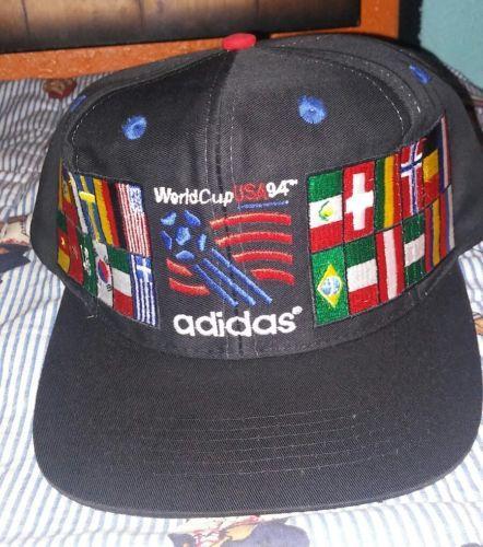 3b9aeff3b22 Vintage Adidas 1994 World Cup Soccer USA Commemorative Flag Snapback Hat  Rare please retweet