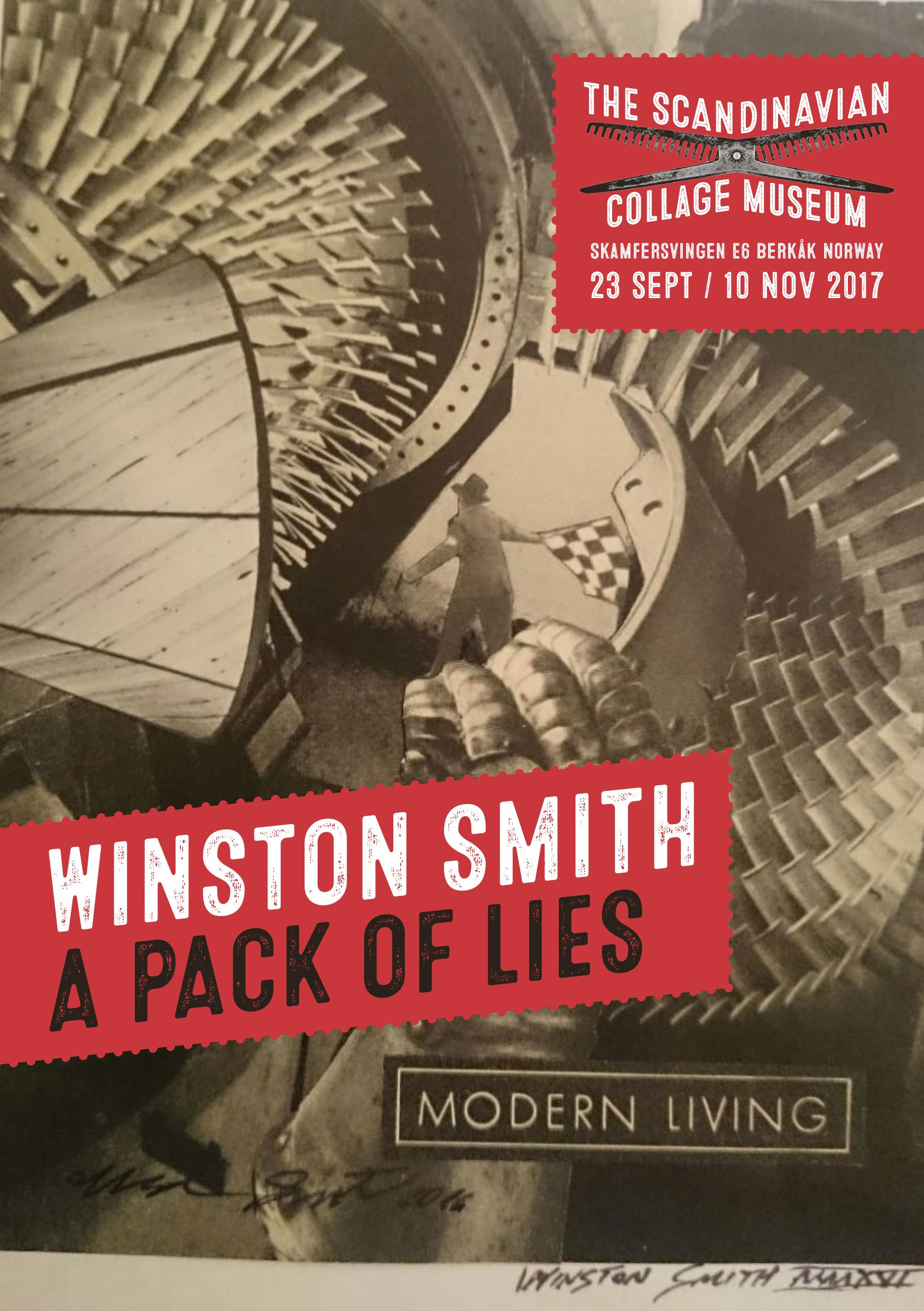 Scandinavian Collage Museum Winston Smith A Pack of Lies