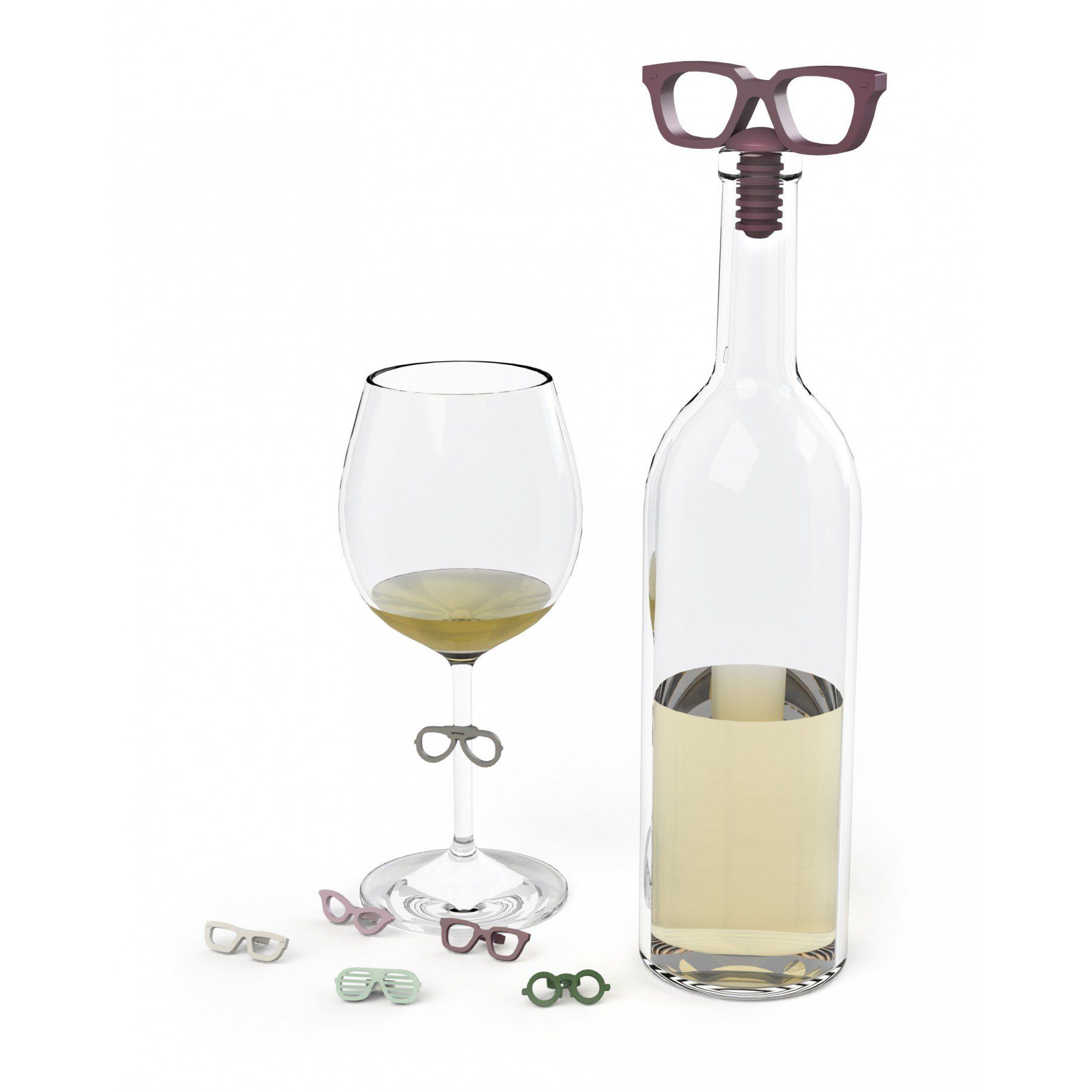 Glasses Wine Charms & Topper Set - Umbra