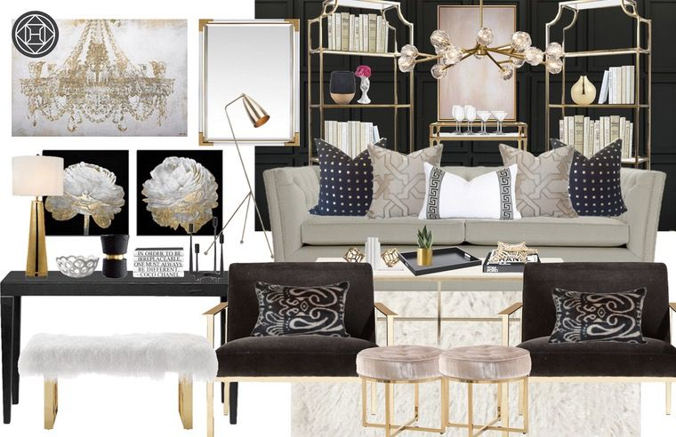 Contemporary, Glam Living Room Design by Havenly Interior Designer by Amy is part of Dream Living Room Glam - Let Havenly create your dream space through a fun and affordable online design process  All online