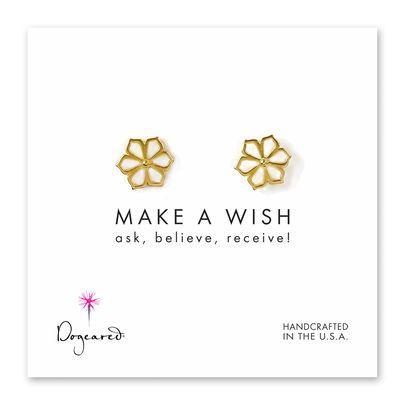make a wish wildflower stud earrings.