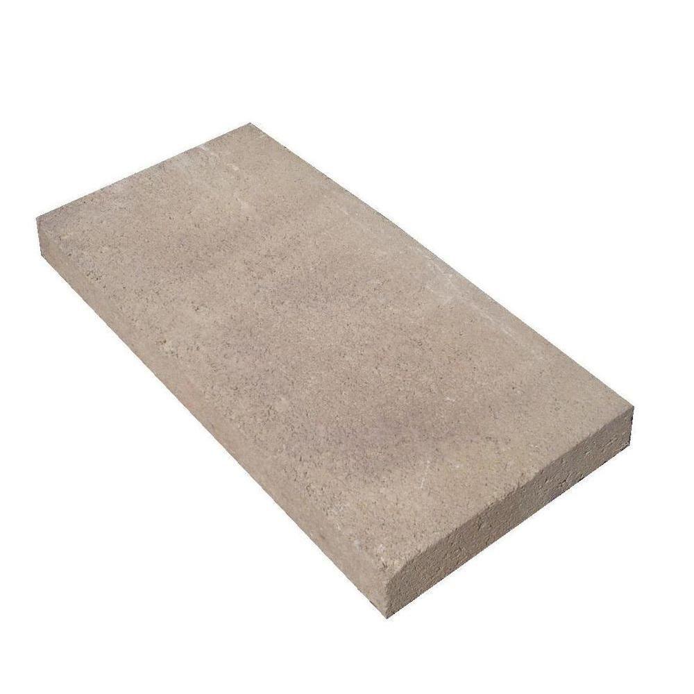 oldcastle 8 in x 16 in rectangular concrete step stone 10100016 at rh pinterest com