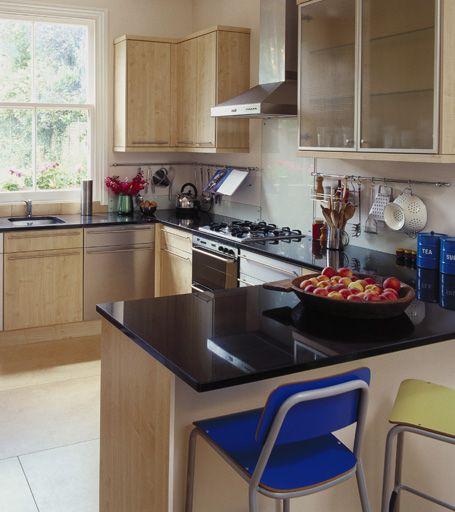 Barra en cocina peque a buscar con google casas for Cocina con desayunador pequeno