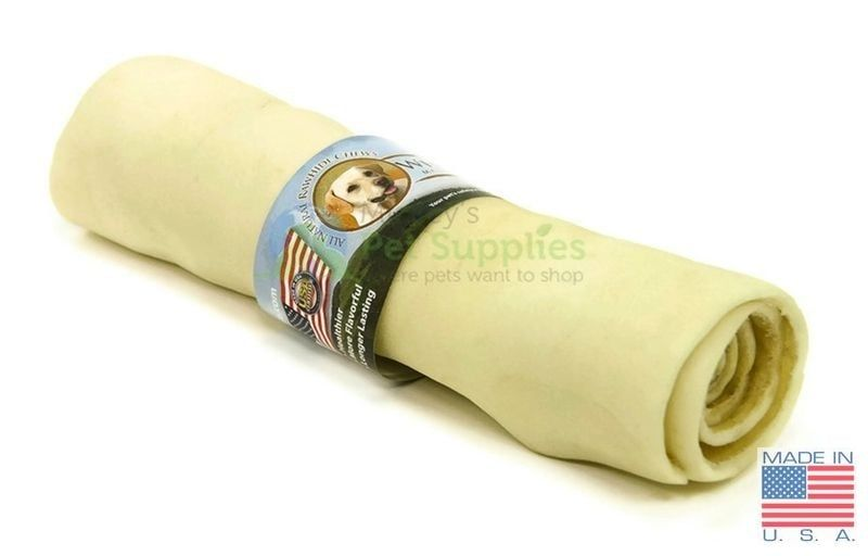 9-10 Inch Wholesome Hide 4 Pack of Super Thick Retriever Roll Dog Treats