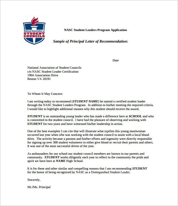 Recommendation Letter For Student Going To College template - college recommendation letters