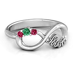 Mom ring with children's birthstones #jewlr