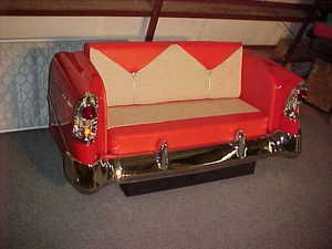 Another nice Tri-5 Chevy sofa example | Garage storage | Car ...