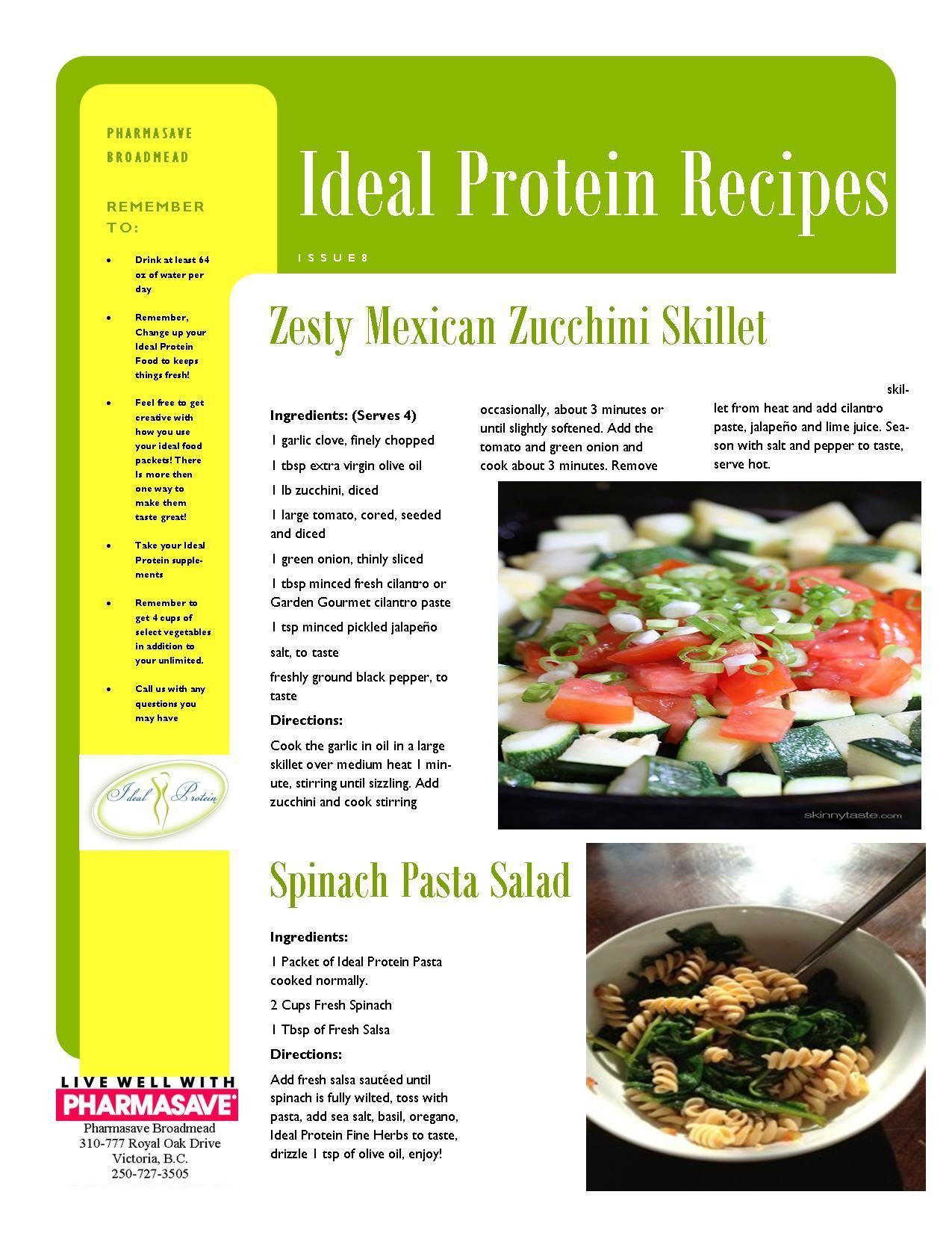 ideal protein recipes phase 1 dinner #idealproteinrecipesphase1dinner Recipes | Pharmasave Broadmead