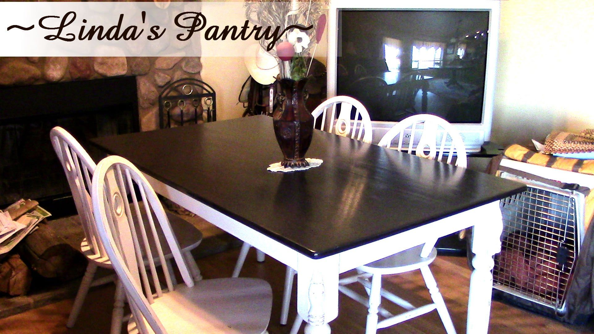 Dining Table DIY Make Over With Linda\'s Pantry~ - YouTube | Life\'s ...