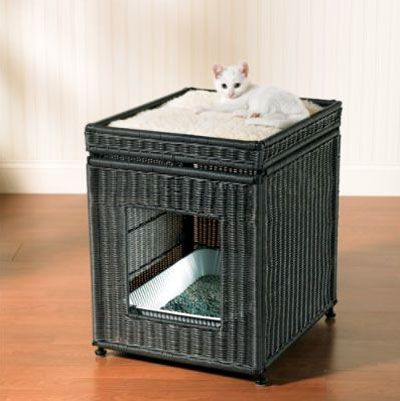 Elegant Cat Litter Box Furniture: Litter Box Covers For Cats
