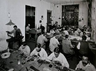 Silver production in Taxco during it's glory days: Castro Soto