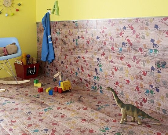 Handprint Laminate Good For Young Children S Room Available From Topps Tiles Uk Tiles Uk Topps Tiles Childrens Playroom