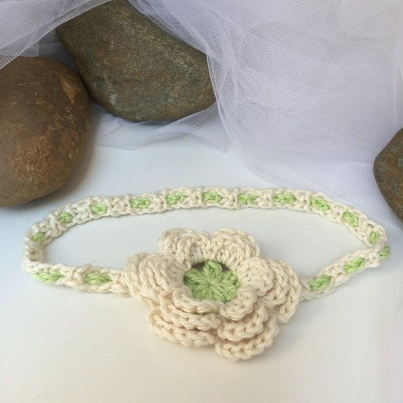 Crochet Flower Baby Headband For Baby Girl By Miraclebabystore