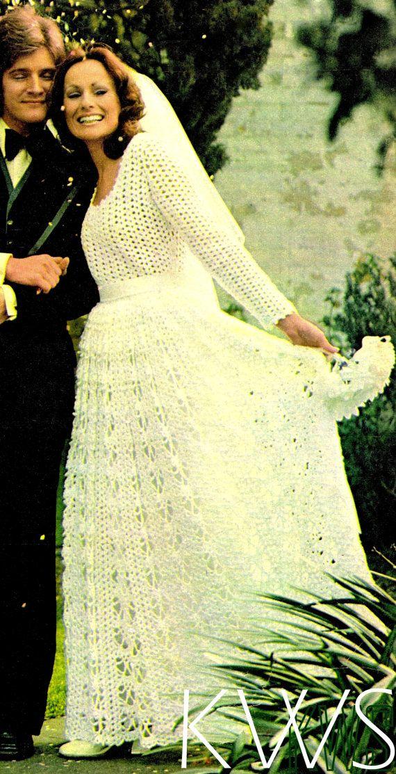descarga inmediata *** ♥ vestido vintage pdf patrón ♥ ganchillo