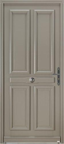 mod le baladi porte d 39 entr e bois classique sans vitrage porte pleine 4 panneaux poign e. Black Bedroom Furniture Sets. Home Design Ideas