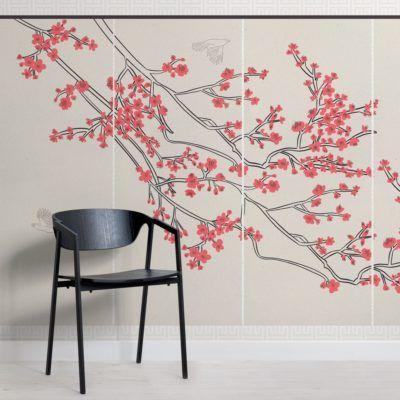 Cherry Blossom Japanese Wallpaper Muralswallpaper In 2021 Cherry Blossom Wallpaper Large Floral Wallpaper Mural Wallpaper