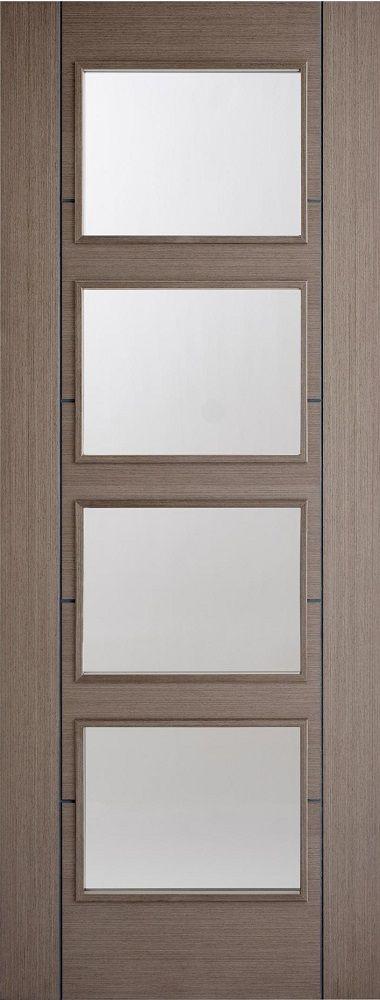 Leeds Doors Vancouver 4 Panel Clear Glazed 78x30 Choco Grey - internal doors - colours - & Leeds Doors Vancouver 4 Panel Clear Glazed 78x30 Choco Grey ...