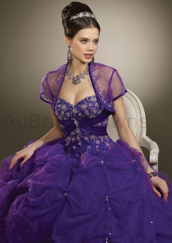 Satin Sweetheart Beaded Bodice Quince Dress | Party Dresses | Pinterest