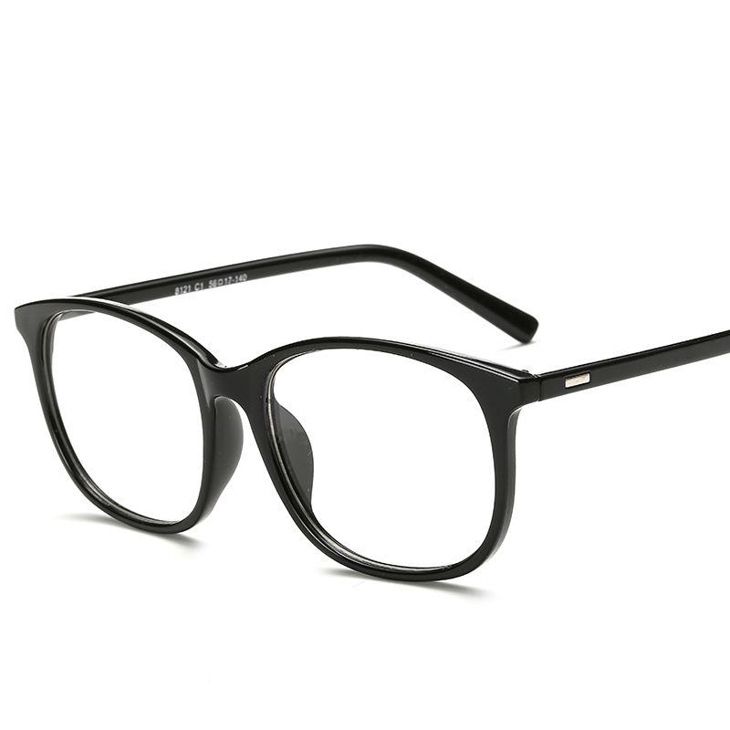 Korean Round Oversized Eyeglasses Frames Clear Lens Fake Optical ...