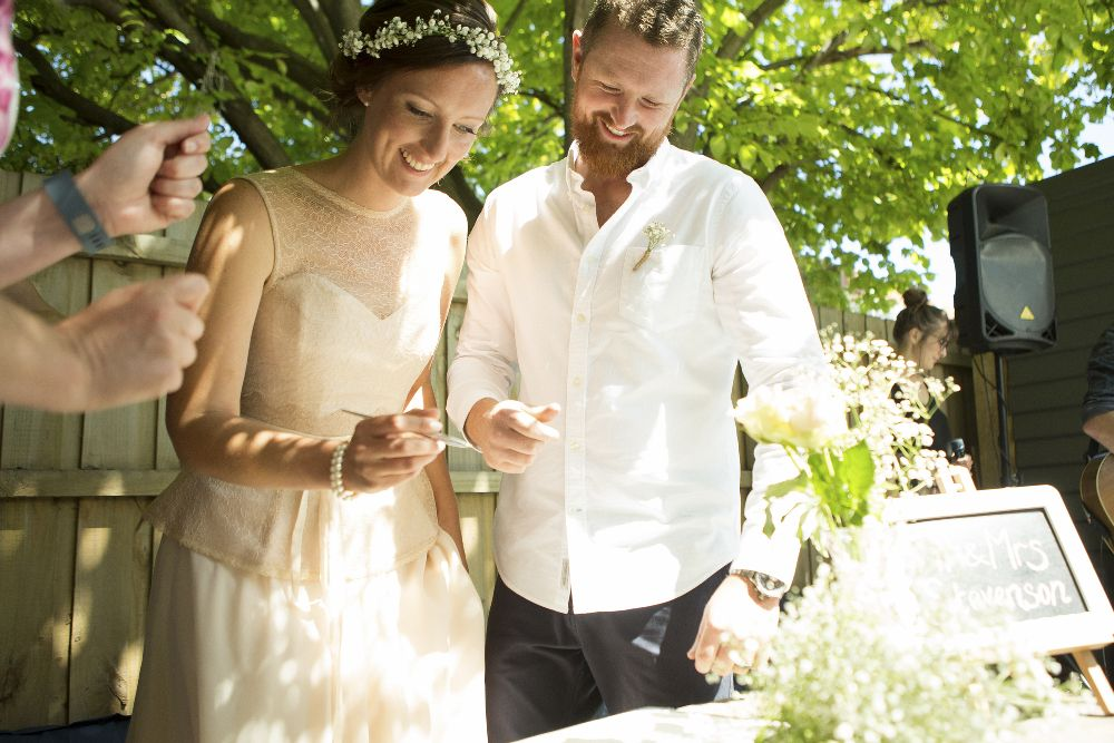 Charming garden wedding at home - Grace loves lace wedding dress