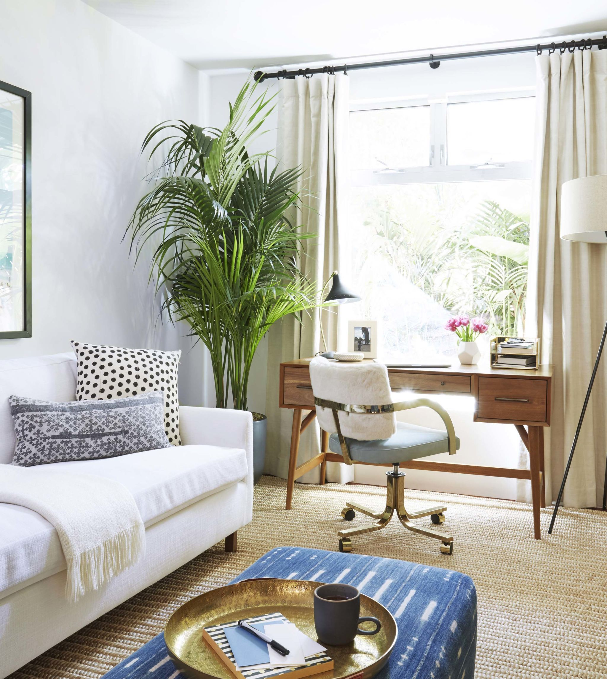 Modern Bohemian Home Office + Decor Roundup