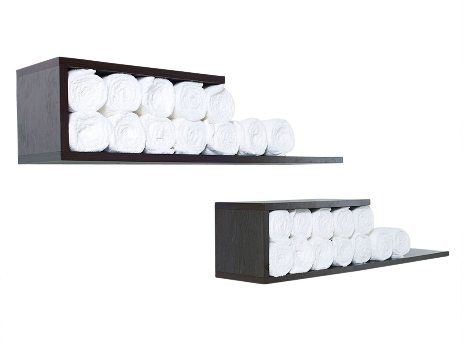 Towel Shelf Walnut - £75.00 - use to store/ display products | House ...