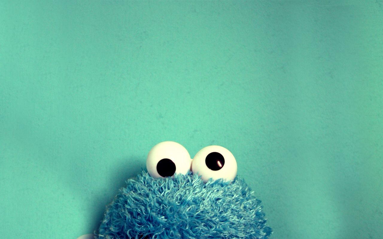 Made From A Real Small Picture Of Cookie Monster That Was Wayyyyyyyy Too So I It Wallpaper