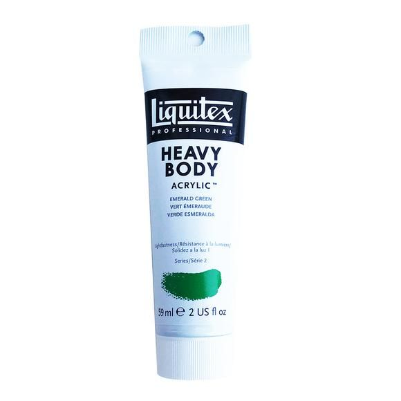 Liquitex Acrylic Paint, Heavy Body, Emerald Green, 2 Oz