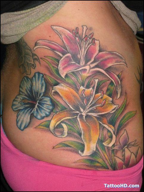 skull and hibiscus | tattoo catalog tattoo fee small star ...