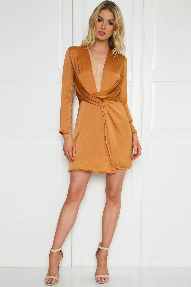 Satin high split dress dresses pinterest satin