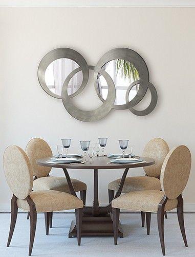 Espejos vestidores en cristal de dise o moderno puertas for Espejos redondos modernos