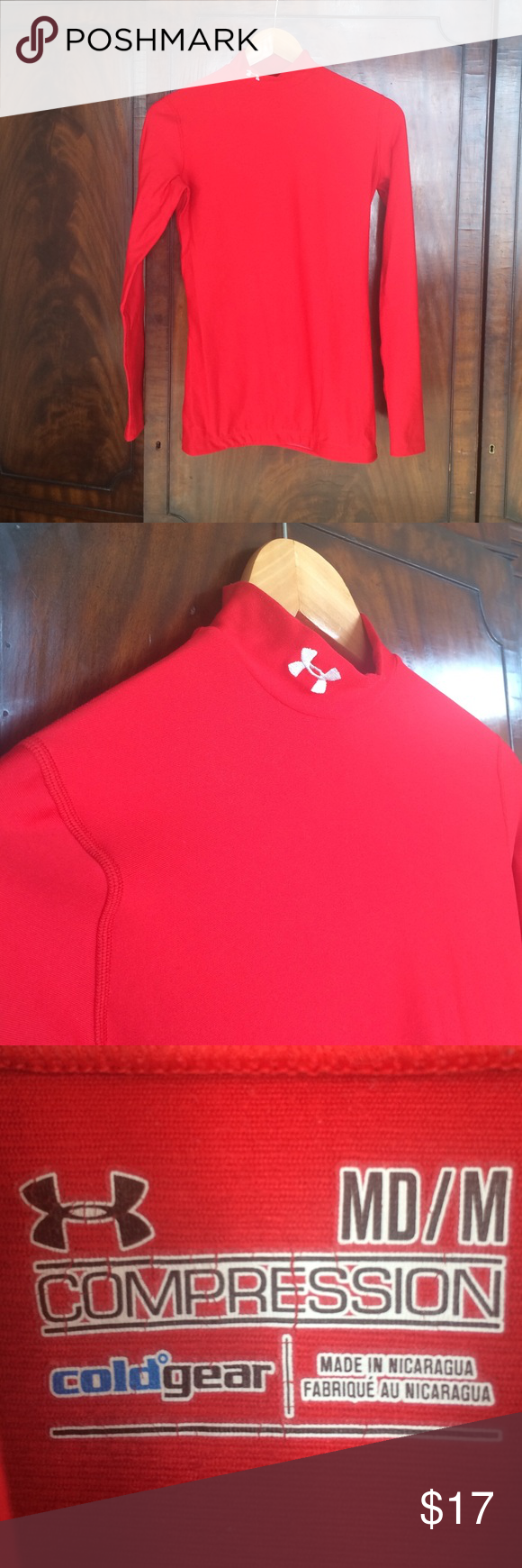 Base layer Under Armour Fleece lined base layer from Under Armour. Perfect for skiing! Under Armour Sweaters