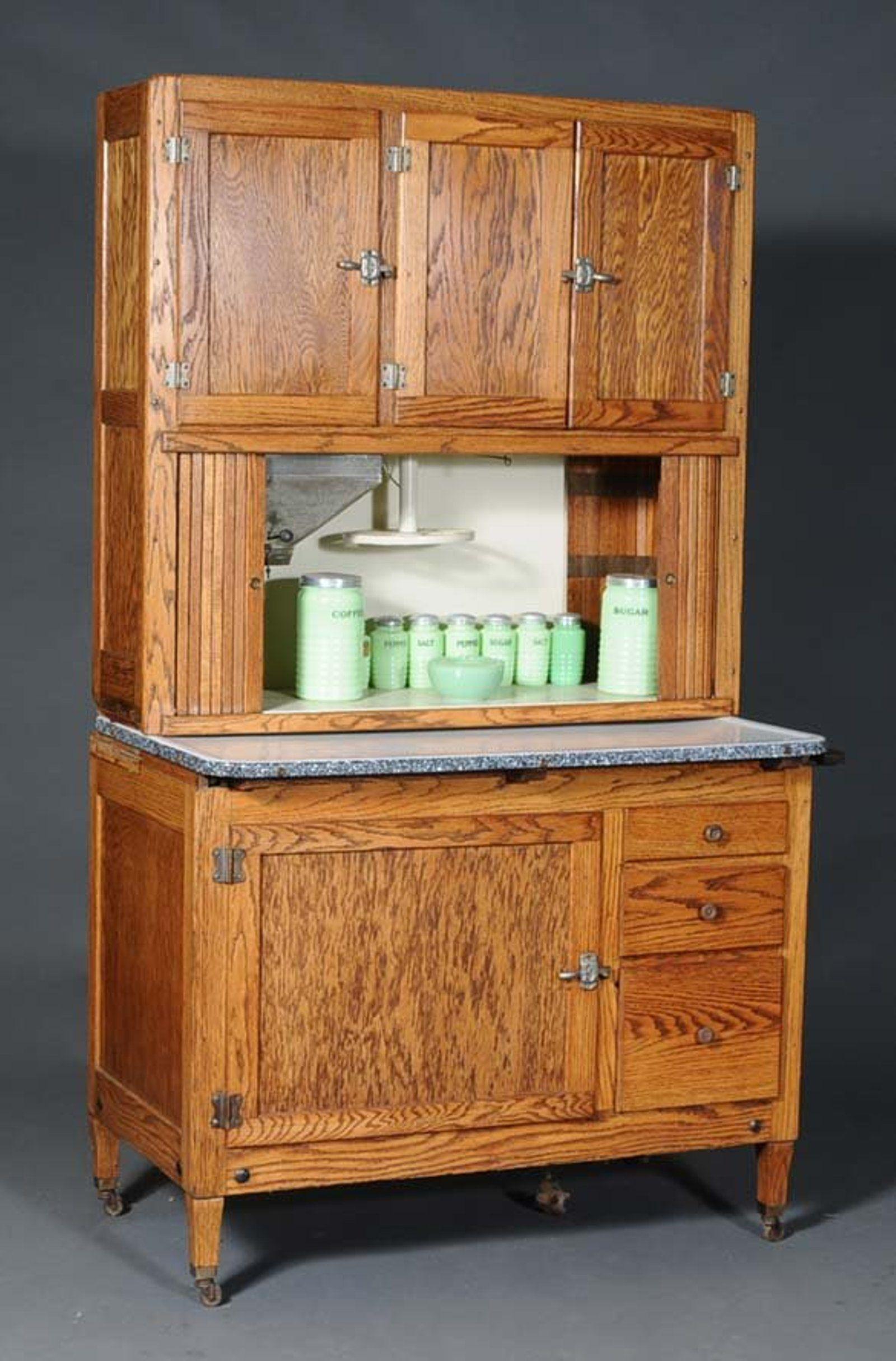 Lot 284 Hoosier Oak Kitchen Cabinet Number 0284 Starting Bid