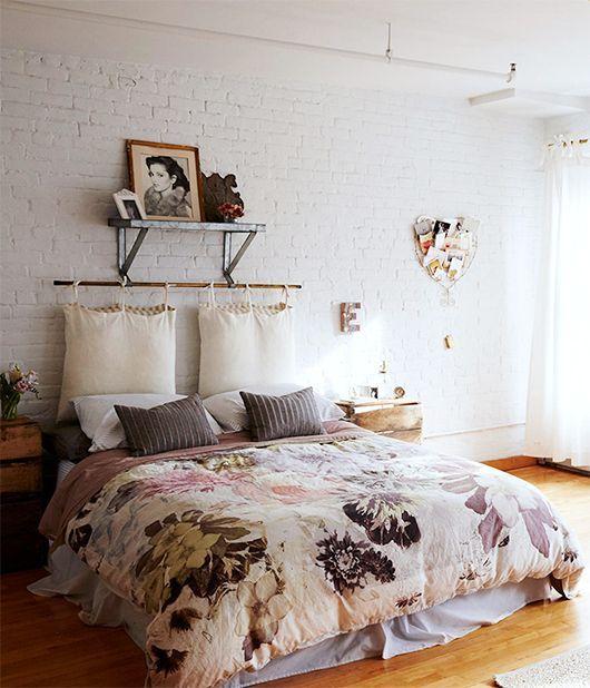 14 Dreamy Diy Headboard Ideas: The Hanging Cushions Are An Interesting Idea. Looks Good