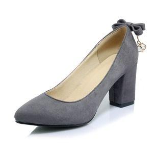 1bd755fd7a Zapatos Salón Cerrados Tacón ancho Ante   Ropa y Calzado   Zapatos ...