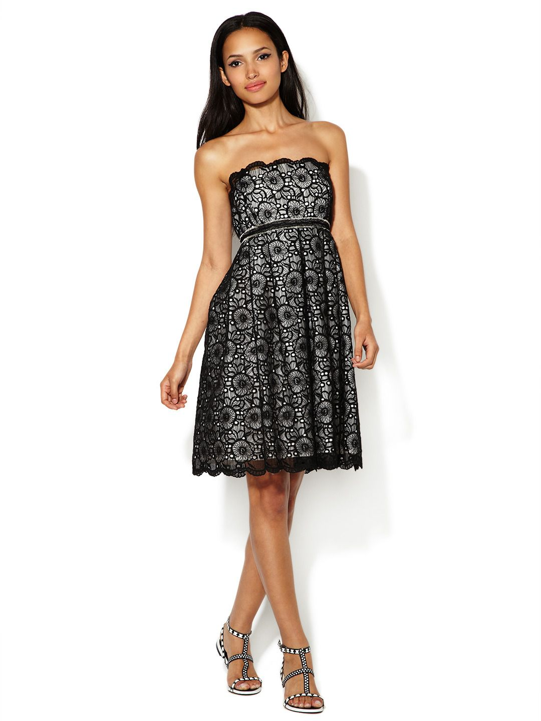 03e4193889d Pansy Embroidered Strapless Dress by Anna Sui at Gilt