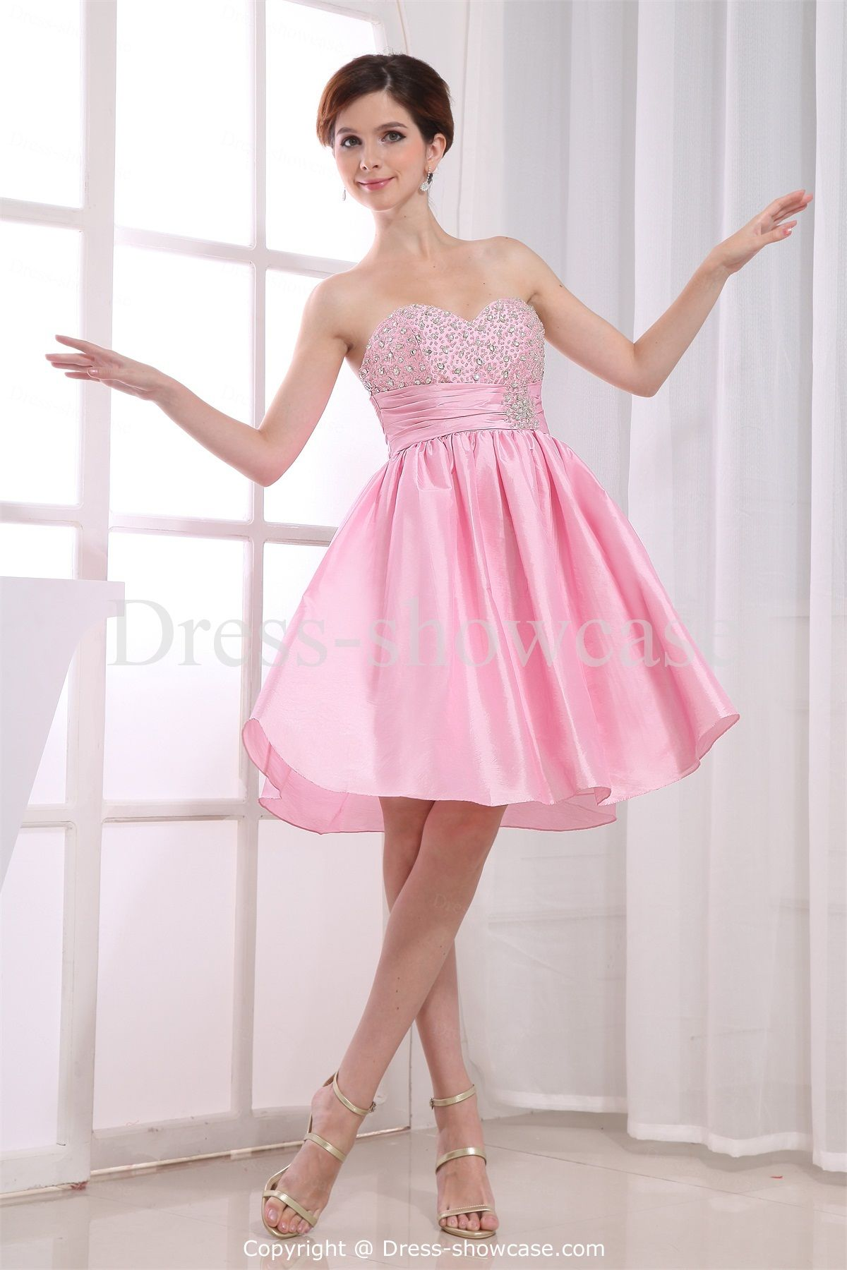 Pink Mini Taffeta Sweetheart Sweet 16 Dress | Sweet 16 | Pinterest ...