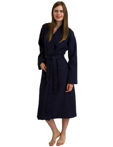 TowelSelections Turkish Waffle Bathrobe Kimono Spa Robe for Women ...