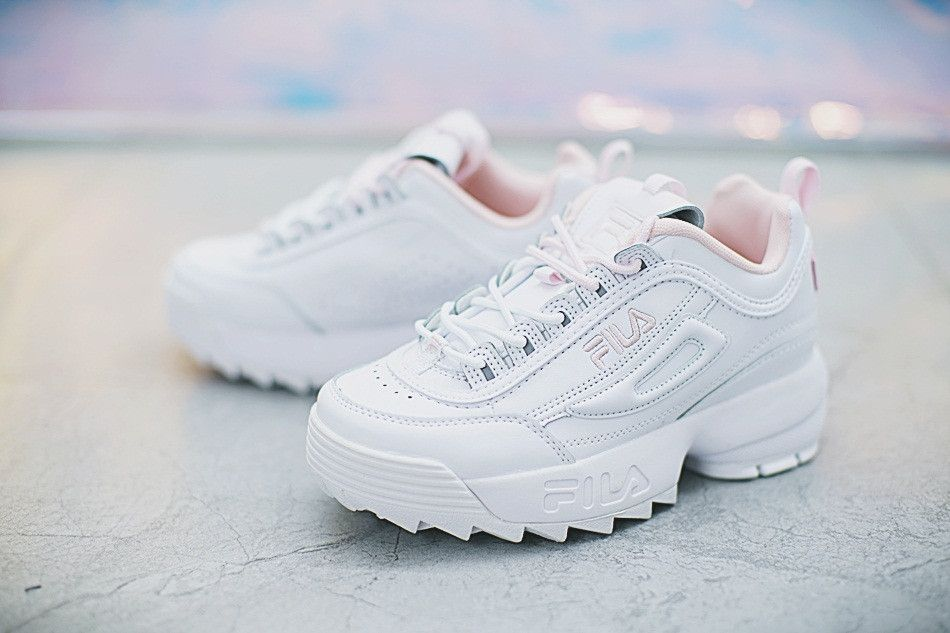 5aefdc46752f FILA DISRUPTOR II 2 WHOLE WHITE WITH POWDER PINK FW0165 024