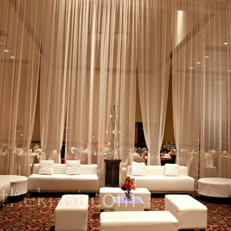 curtain room dividers Divider walls Pinterest Wedding, Wedding
