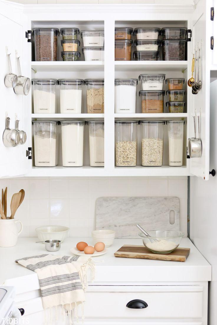 Baking Cupboard Organization by TIDBITS #organization #kitchen