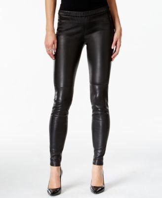 31186c2cba8b67 MICHAEL Michael Kors Faux-Leather Leggings | Benefit-Casual PantWear ...