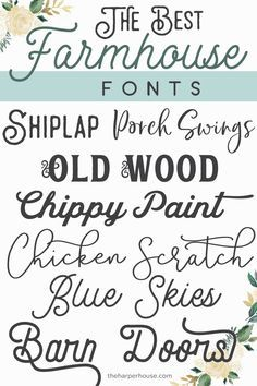 Farmhouse Fonts: Joanna Gaines Approved | The Harper House