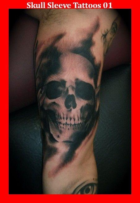 skull sleeve tattoos 01 vitali pinterest tattoo. Black Bedroom Furniture Sets. Home Design Ideas