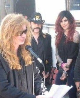 I CAN'T BELIEVE IT!!! Dave Mustaine, Lemmy Kilmister and Kat Von D in one pic!!!!!