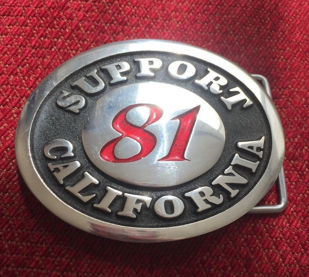 Belt Buckles 86647: Hells Angels California Support 81 Belt Buckle