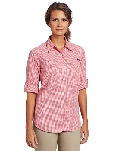 d783afcd6fd Columbia Women's Super Bonehead Long Sleeve Shirt, Medium, Afterglow,  Gingham by Columbia. $32.99. The print plaid version of our cool,  protective Bonehead, ...