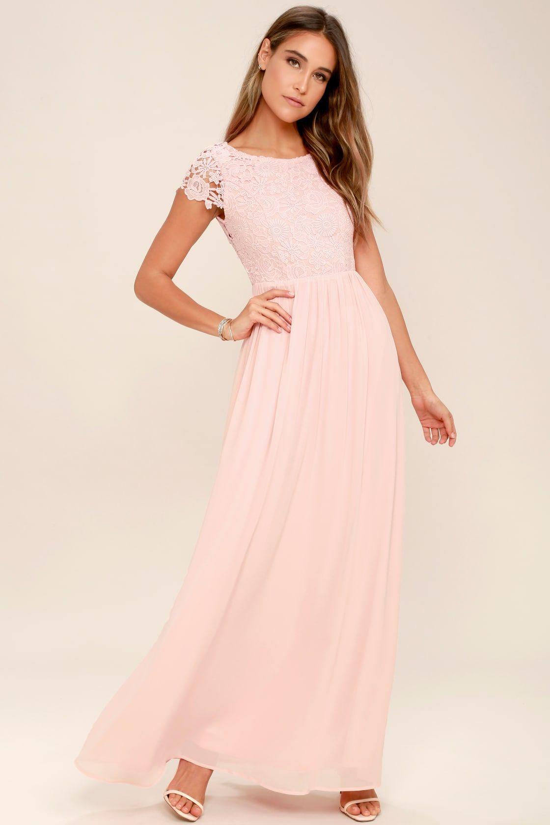 46301d5ce53b Lulus | The Greatest Blush Pink Lace Maxi Dress | Size Medium | 100 ...
